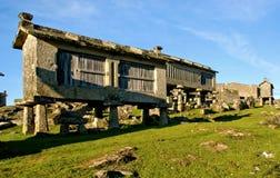 Lindoso granaries in National Park of Peneda Geres. Portugal stock image