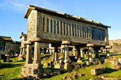 Lindoso granaries in National Park of Peneda Geres. Portugal stock images