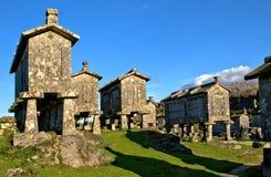 Lindoso granaries in National Park of Peneda Geres. Portugal stock photo