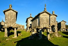 Lindoso granaries in National Park of Peneda Geres. Portugal royalty free stock photos