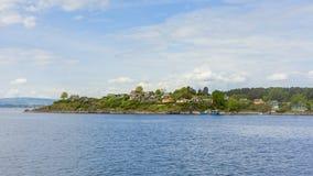 Lindoya-Inselansicht in die Stadt von Oslo lizenzfreies stockfoto
