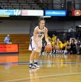 Lindsay Kimmel - Villanova University. VILLANOVA, PA - DECEMBER 9: Villanova University women's basketball forward Lindsay Kimmel brings the ball across half Stock Photos