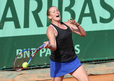Lindsay Lee-Waters (de V.S.) in Roland Garros 2011 Stock Foto