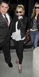 Lindsay Lohan à l'aéroport de LAX Photos libres de droits