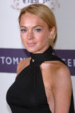 Lindsay Lohan. Actress LINDSAY LOHAN at the 12th Annual Race to Erase MS Gala themed 'Rock & Royalty to Erase MS' at the Century Plaza Hotel. April 22, 2005 Royalty Free Stock Image
