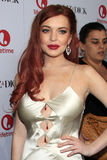 Lindsay Lohan arrives to the private dinner for the premiere of Lifetime's 'Liz & Dick' Royalty Free Stock Photo