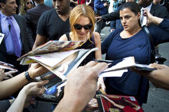 Lindsay Lohan 2013 Stock Foto