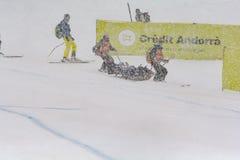 Lindsey Vonn De Los EEUU compite durante el combinado De Audi FIS puchar świata kobiet el 28 De Febrero De en Super Alpejski Narc obraz stock