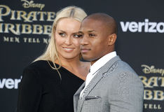 Lindsey Vonn and Kenan Smith Stock Images