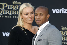 Lindsey Vonn and Kenan Smith Royalty Free Stock Photography