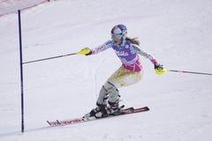 Lindsey Vonn - superstar alpino americano di corsa con gli sci Immagine Stock