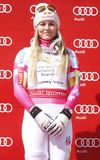 Lindsey Vonn  2015 World Cup in Meribel Royalty Free Stock Photos