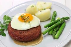 Lindstrom da carne, rissol de carne vermelho sueco fotografia de stock royalty free