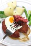 Lindstrom da carne, rissol de carne vermelho sueco imagens de stock