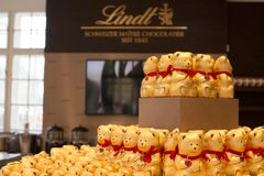 Lindt Chocolate Boutique in Vienna, Austria Royalty Free Stock Photo