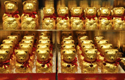 Lindt chocolate golden bears Stock Photo