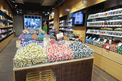 Lindt chocolate and sweet shop Royalty Free Stock Photos