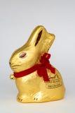 Lindt gouden konijntje stock afbeelding