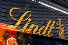 Lindt at Metzingen Outlet Shopping Complex in Germany, Europe on royalty free stock photography