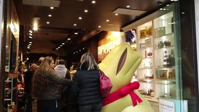 Lindt Store In Rome stock footage