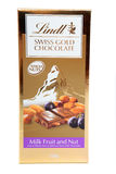 Lindt Swiss Gold Fruit and Nut Chocolate Royalty Free Stock Images