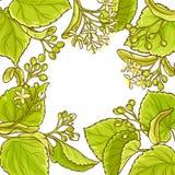 Lindvektorram royaltyfri illustrationer