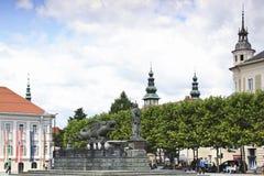 Lindwurm fountain at Neuer Platz, Klagenfurt Stock Photo