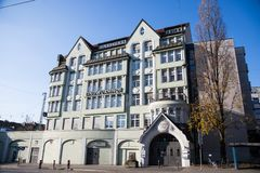 Lindwurmhof, historic Jugendstil house in Munich. Germany stock photo