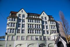 Lindwurmhof, historic Jugendstil house in Munich. Germany stock photography