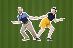 Lindy flygtur eller vaggar för `-rulle för ` n dansare för woogie för boogie för dans royaltyfri foto