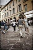 Lindy Hop Flash Mob Fotos de archivo