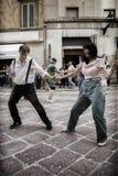 Lindy Hop Flash Mob Foto de archivo libre de regalías