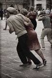 Lindy Hop Flash Mob. Flash Mob itinerant in the city center of Parma, Italy. The Swing is coming back with all his energy and all his load of happiness Royalty Free Stock Image