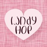 Lindy hop. Vector illustration. Music and dance. Fabric heart design Royalty Free Stock Photography