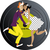 Lindy Hop Music Photographie stock
