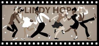 Lindy Hop Retro Royalty Free Stock Photo