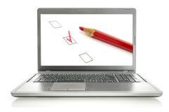 On-line-Übersicht stockfotos