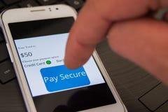 On-line ασφαλής πληρωμή Στοκ Εικόνα