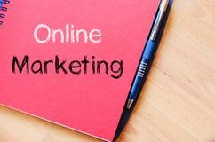 On-line εμπορικός γράψτε στο σημειωματάριο στοκ φωτογραφία με δικαίωμα ελεύθερης χρήσης