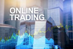 On-line να κάνει εμπόριο, Forex, έννοια επένδυσης και χρηματοοικονομικών αγορών ελεύθερη απεικόνιση δικαιώματος