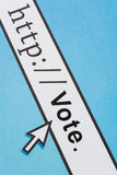 on-line ψηφίζοντας Στοκ φωτογραφία με δικαίωμα ελεύθερης χρήσης