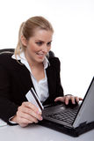 on-line ψωνίζοντας Στοκ Εικόνες