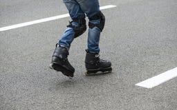 In-line катающся на коньках Стоковое Фото