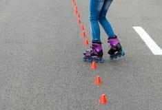 In-line катающся на коньках Стоковое Изображение