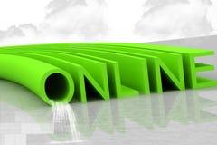 on-line διανυσματική απεικόνιση