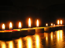 Line. On a photo of a candle as a line. A photo on a dark background. The photo is made in Ukraine Royalty Free Stock Images