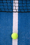 On the line. A ball is on the line, composition of racket game Stock Photos