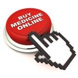 Αγοράστε την ιατρική σε απευθείας σύνδεση Στοκ Εικόνα
