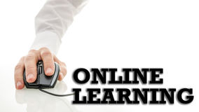 On-line μαθαίνοντας Στοκ Εικόνα
