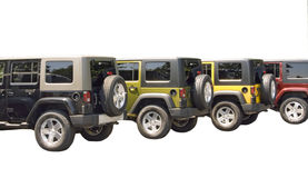 Line of 4x4 cars Royalty Free Stock Photos